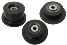 Flanged rollers