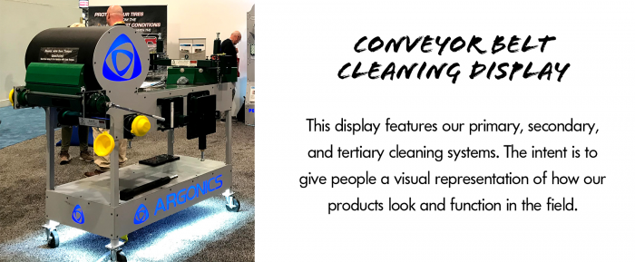 conveyor belt cleaning display