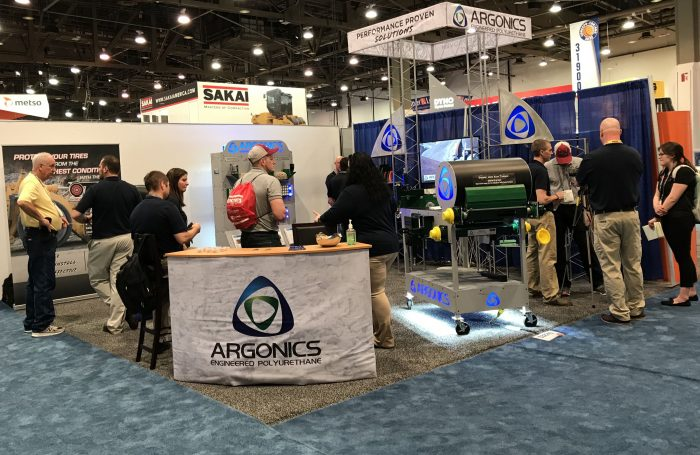Argonics booth overview at CONEXPO-CON/AGG